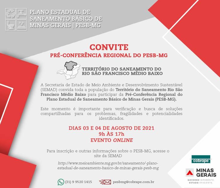 Pré-Conferência Regional do Plano Estadual de Saneamento Básico de Minas Gerais, Território